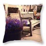 Culross Sketches 4. Scotland Throw Pillow