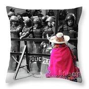 Culture Clash Throw Pillow