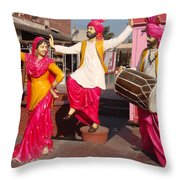 Culture Of Punjab Throw Pillow