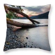 Cultus Lake Sunset Throw Pillow