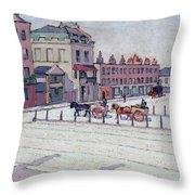 Cumberland Market North Side Throw Pillow by Robert Polhill Bevan