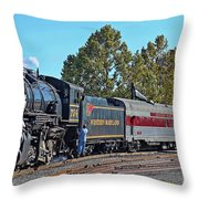Cumberland Maryland Train Station Throw Pillow