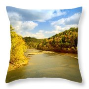 Cumberland River Throw Pillow