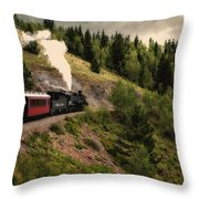 Cumbres And Toltec Train Co And Hm Throw Pillow