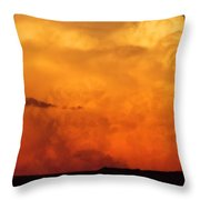 Cumulus Congestus Sunset Throw Pillow