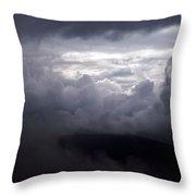 Cumulus On The Blue Ridge Parkway Throw Pillow