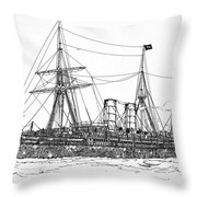 Cunard Liner Umbria 1880's Throw Pillow