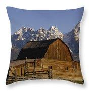Cunningham Cabin Grand Tetons Wyoming Throw Pillow
