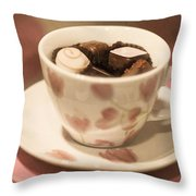 Cup Of Chocolate Throw Pillow