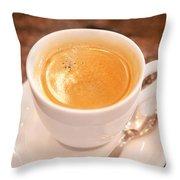Espresso In White Throw Pillow