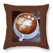 Cup Of Fish Throw Pillow