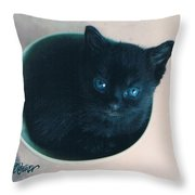 Cup O'kitty Throw Pillow