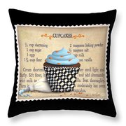 Cupcake Masterpiece Throw Pillow by Catherine Holman