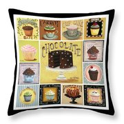 Cupcake Mosaic Throw Pillow