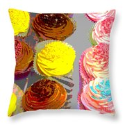 Cupcake Suite Throw Pillow