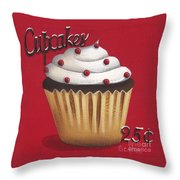 Cupcakes 25 Cents Throw Pillow by Catherine Holman