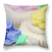 Cupcakes Shallow Depth Of Field Throw Pillow