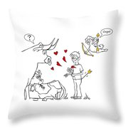 Cupid Valentines Throw Pillow