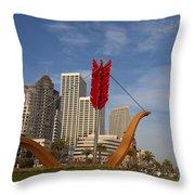 Cupids Arrow San Francisco Throw Pillow