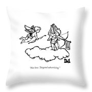 Cupid's Twin Shoots Coupons From Up On A Cloud Throw Pillow