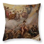 Cupola Painting - Washington Dc Throw Pillow