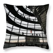 Cupola Reichstags Building Berlin Throw Pillow