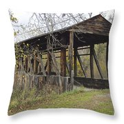 Cuppet's Covered Bridge Throw Pillow