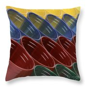 Cups7 Throw Pillow