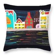 Curacao Blue  Throw Pillow