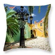 Curacao Colorful Architecture Throw Pillow by Amy Cicconi