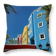 Curacaos Colorful Architecture Throw Pillow