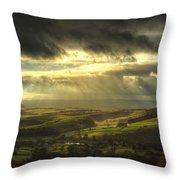 Curbar Sunbeams Throw Pillow