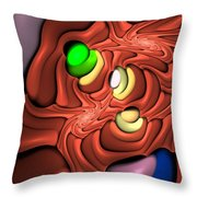 Curbisme-81 Throw Pillow