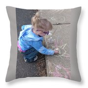 Curbside Artist Throw Pillow