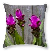 Curcuma Flowers Throw Pillow