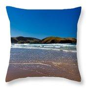Curio Bay On South Coast Of New Zealand South Island Throw Pillow