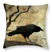 Curious Crow Throw Pillow