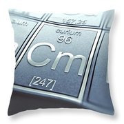 Curium Chemical Element Throw Pillow