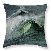 Curl Of The Wave Throw Pillow