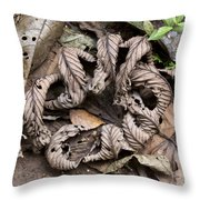 Curled Leaves Throw Pillow
