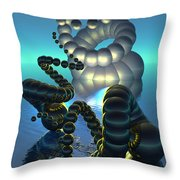 Curled Serpent Throw Pillow