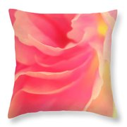 Curling Blossom Throw Pillow