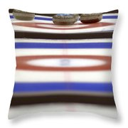 Curling Rocks On Ice Throw Pillow