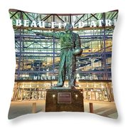 Curly At Lambeau Throw Pillow