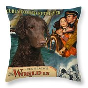 Curly Coated Retriever Art - The World In His Arms Movie Poster Throw Pillow