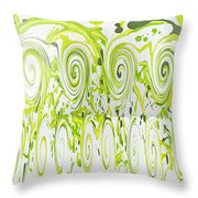 Curly Greens Throw Pillow