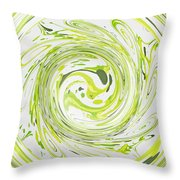 Curly Greens II Throw Pillow