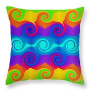 Curly Q 2 Throw Pillow