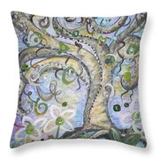 Curly Tree In Fantasy Land Throw Pillow