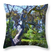 Curly Tree Throw Pillow